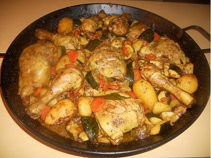 Poëlon Colombo poulet